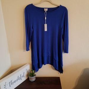 •Cupio• Blue 3/4 Sleeve Top